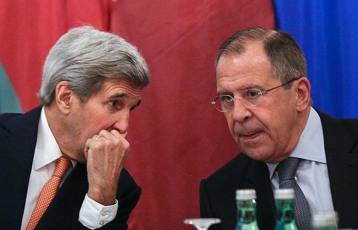 John Kerry (left) and Sergey Lavrov