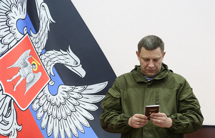 Alexander Zakharchenko, leader of the Donetsk republic