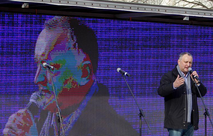 Igor Dodon, the leader of the Socialist Party of Moldova
