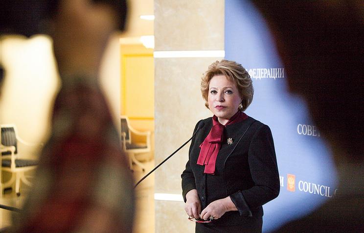 Russia's Federation Council Speaker Valentina Matviyenko