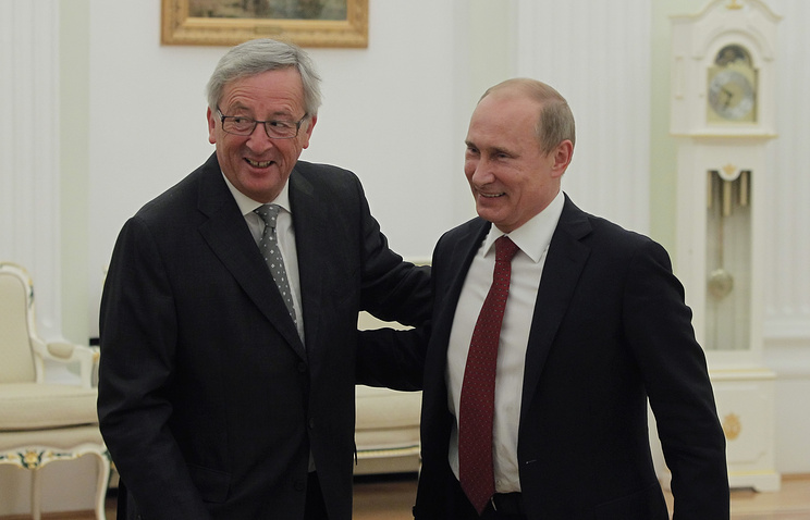 President of the European Commission Jean-Claude Juncker and Russian President Vladimir Putin, 2012