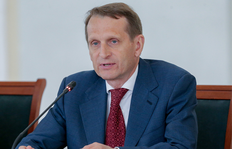 Speaker of Russia's State Duma (lower house of parliament) Sergei Naryshkin