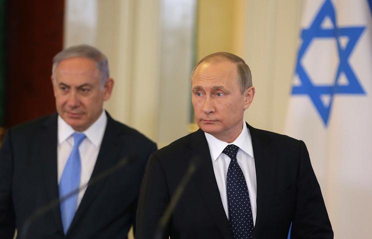 Israeli Prime Minister Benjamin Netanyahu and Russian President Vladimir Putin (archive)