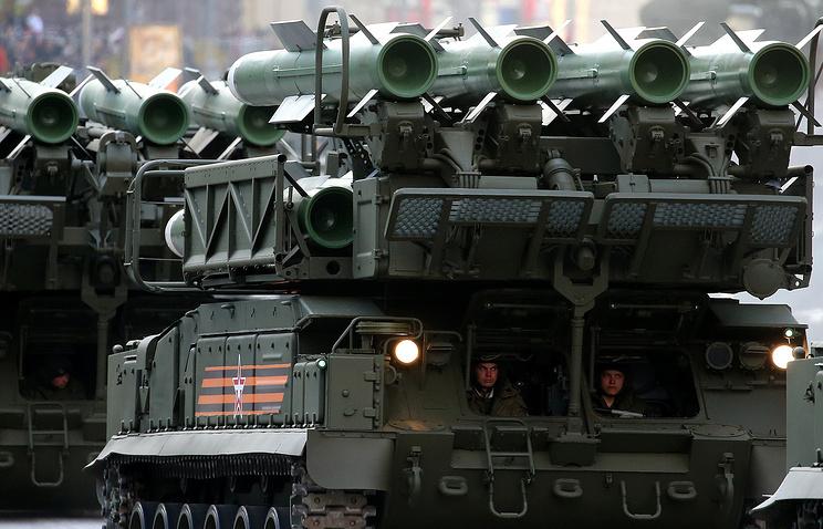 Buk-M2 air defense missile system