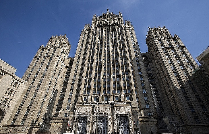 The Russian Foreign Ministry building in Moscow