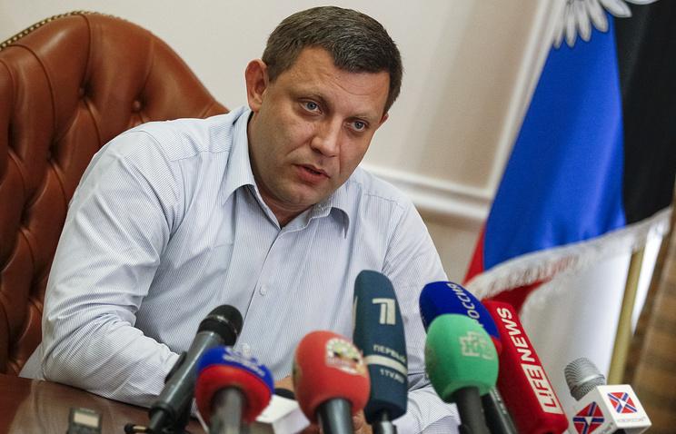 Alexander Zakharchenko, the DPR head