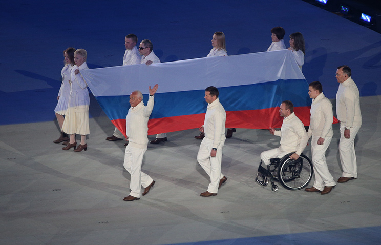 Russian Paralympians in Sochi