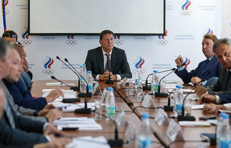 Meeting of the Russian Olympic Committee's Executive Board
