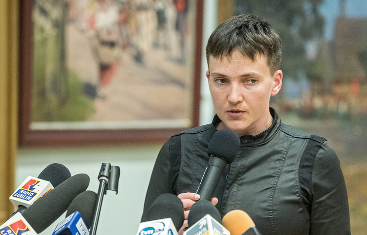 Verkhovna Rada member from the Fatherland party Nadezhda Savchenko