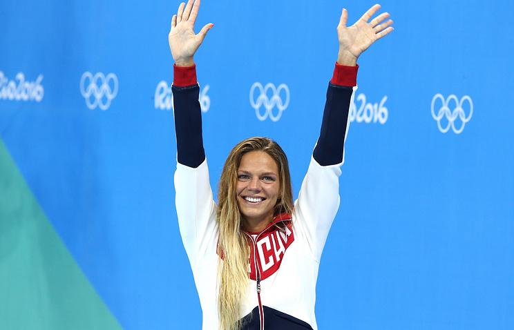 Russian swimmer Yulia Yefimova