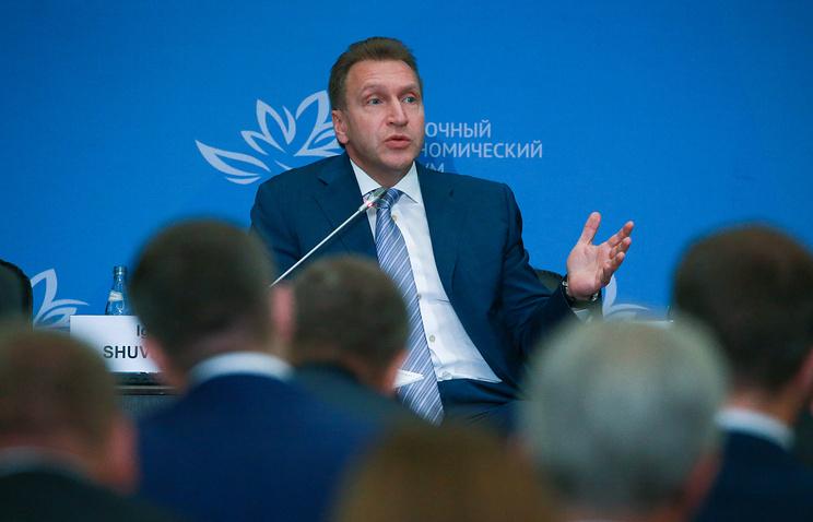 Russian First Deputy Prime Minister, Igor Shuvalov