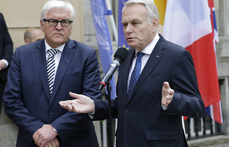 Foreign ministers of Germany and France, Frank-Walter Steinmeier and Jean-Marc Ayrault