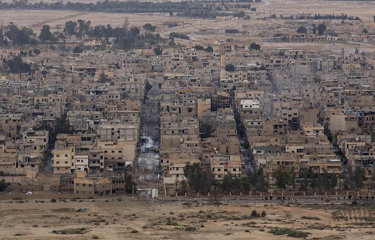 Syrian Palmyra town