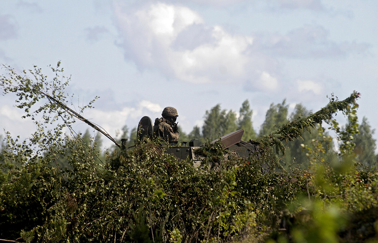 Adazi military base in Latvia