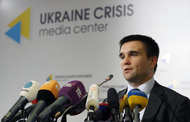 Ukrainian Foreign Minister Pavel Klimkin