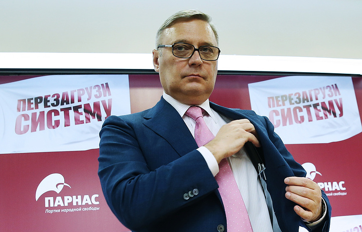 Leader of Russia's Parnas party, Mikhail Kasyanov