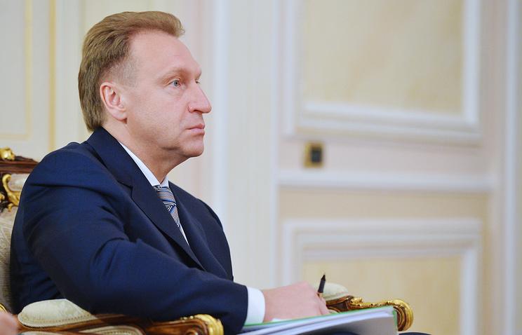 Russia's First Deputy Prime Minister Igor Shuvalov