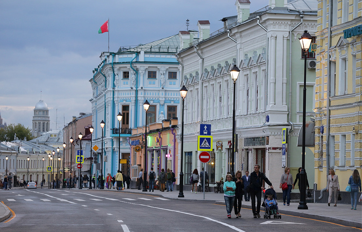 Pokrovka street in downtown Moscow