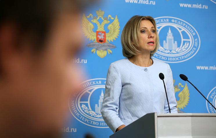Russia's Foreign Ministry official spokeswoman Maria Zakharova