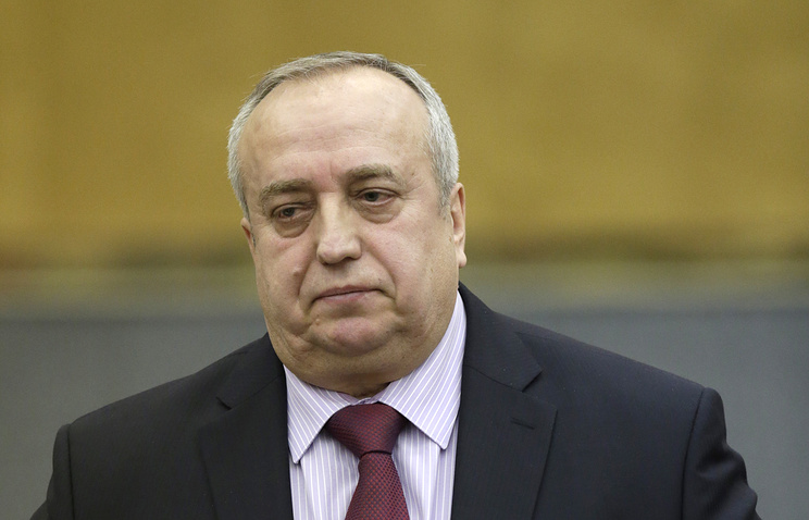 Frants Klintsevich, First Deputy Chairman of the Russian Federation Council's Committee on Defense and Security