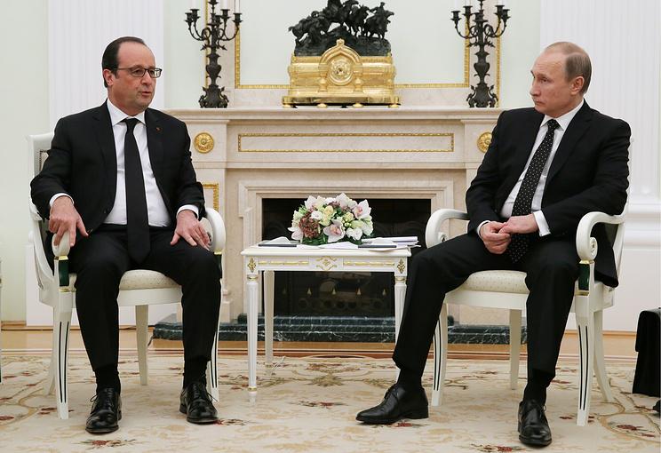 French President Francois Hollande and Russian President Vladimir Putin