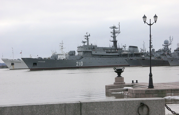 The Russian Baltic Fleet's training ship Smolny