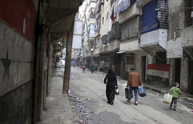 Civilians in Aleppo, Syria