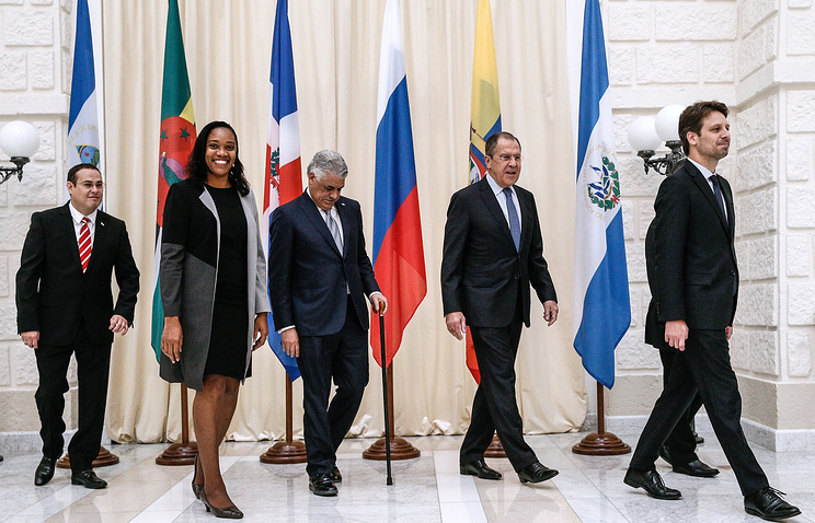 Russian Foreign Minister Sergey Lavrov meeting with CELAC Expanded Quartet Foreign Ministers