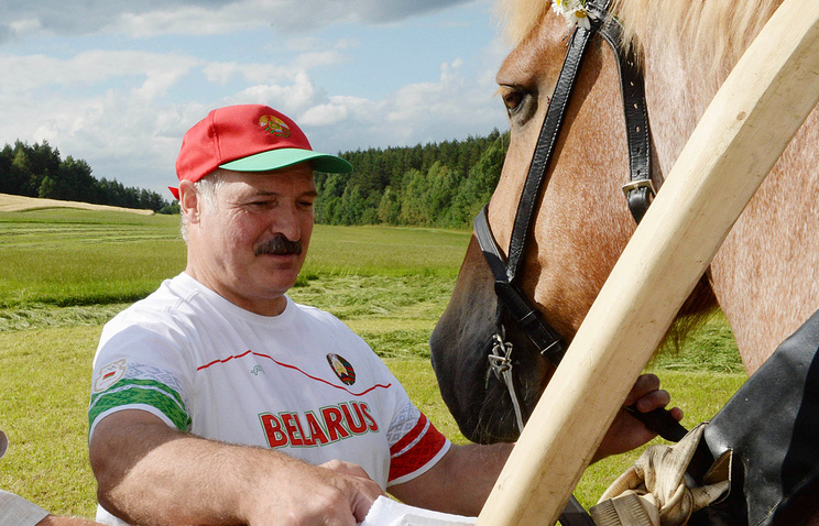 Alexander Lukashenko in his residence of Ozerny, outside Minsk, Belarus