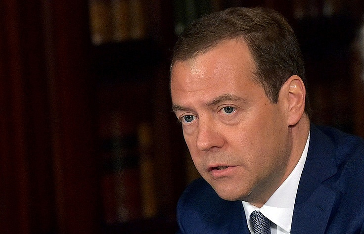 Russia's Prime Minister Dmitriy Medvedev