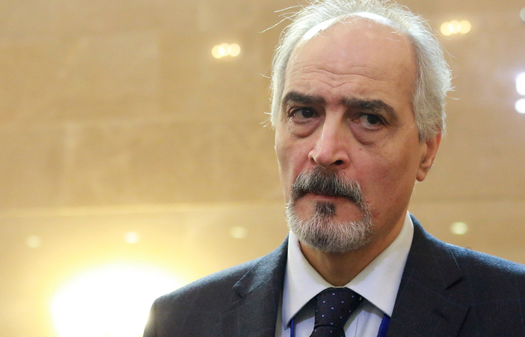 Head of the Syrian government delegation, Bashar al-Jaafari