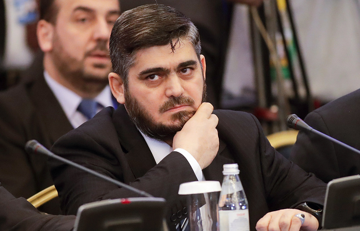 Head of the Syrian opposition delegation Mohammed Alloush