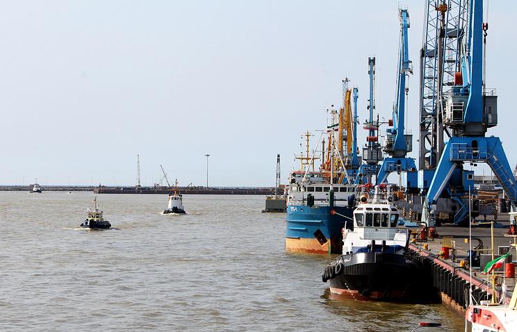 Anzali port in the Caspian Sea province of Gilan, northern Iran