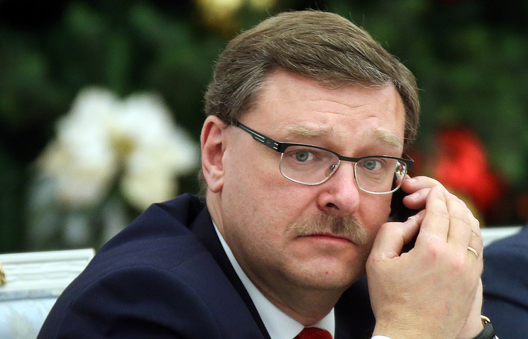 Chairman of the Russian Federation Council's Committee for International Affairs, Konstantin Kosachev