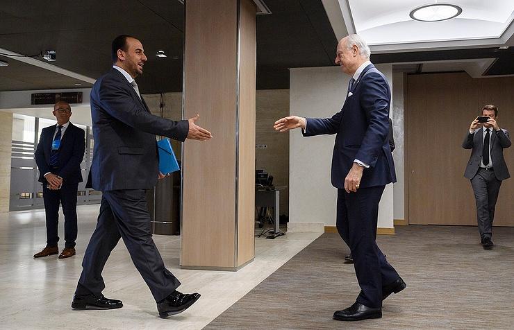 Nasr al-Hariri and Staffan de Mistura