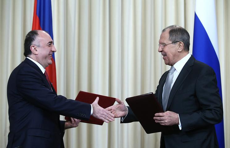 Azerbaijani and Russian foreign ministers, Elmar Mamedyarov and Sergey Lavrov