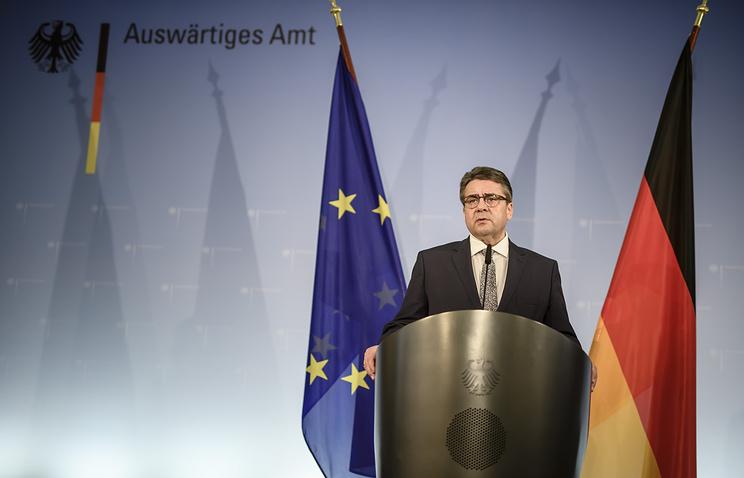 German Foreign Minister Sigmar Gabriel