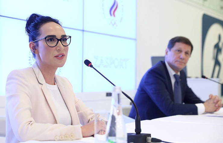 ZA Sport founder Anastasia Zadorina and ROC chief Alexander Zhukov