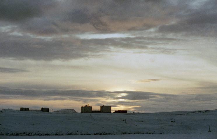Novaya Zemlya in the Arctic region