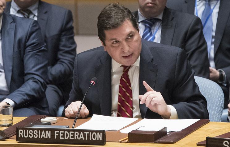 Russia's deputy UN ambassador Vladimir Safronkov