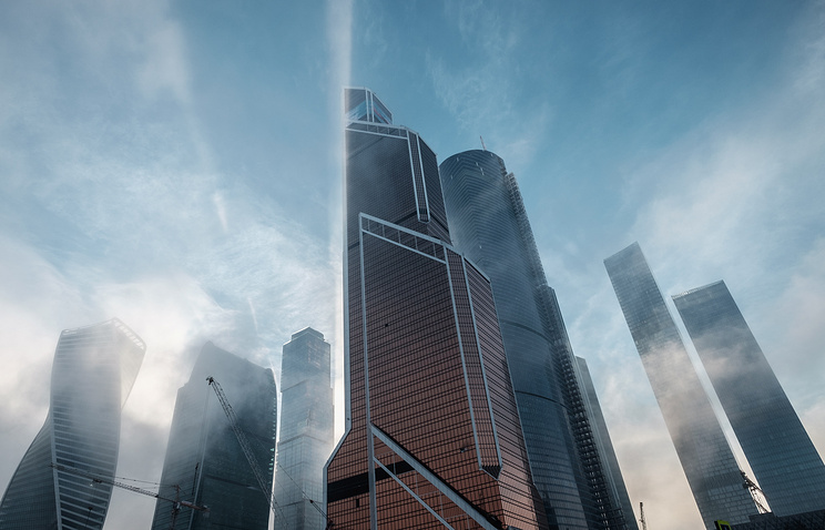 A view of the Moscow City business centre