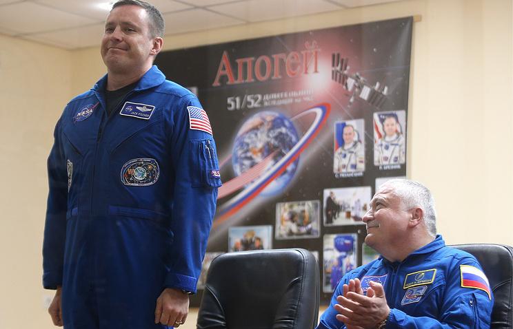 NASA astronaut Jack Fischer and Roscosmos cosmonaut Fyodor Yurchikhin