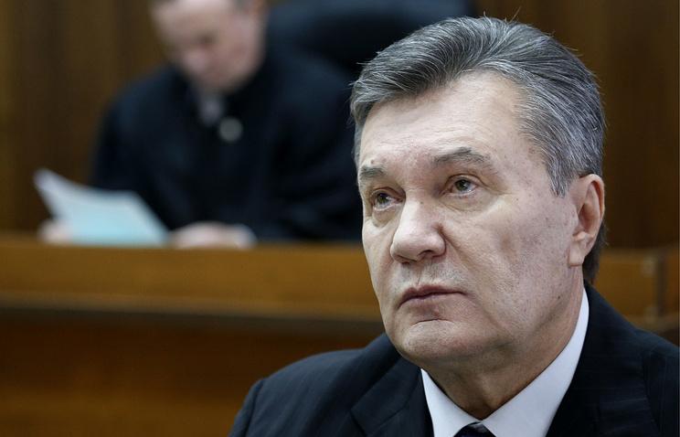 Former Ukrainian President Viktor Yanukovich