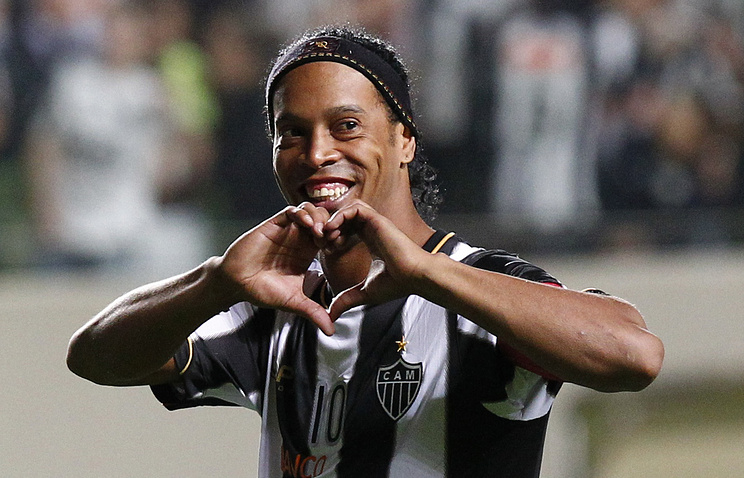 Brazilian footballer Ronaldinho