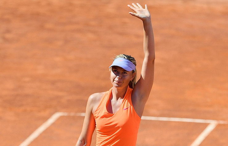 Sharapova vows to 'rise up again'