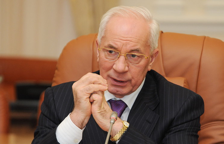 Ukraine's former Prime Minister Nikolai Azarov