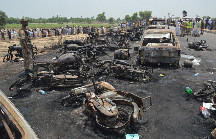 148 charred to death as oil tanker explodes in Pak