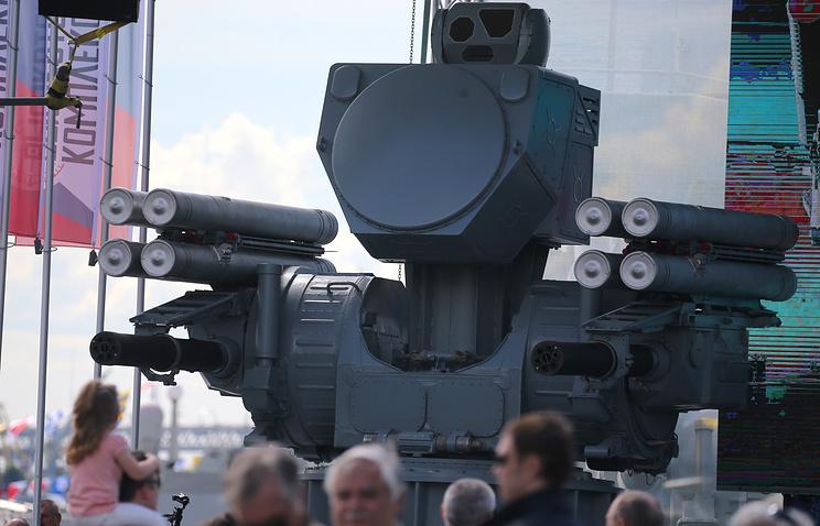 Pantsyr-ME seaborne air defense missile/artillery system