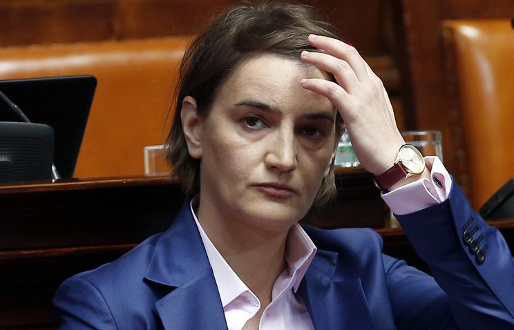 Serbian Prime Minister Ana Brnabic