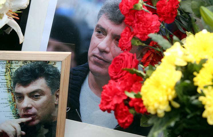 Portraits of Russian politician Boris Nemtsov